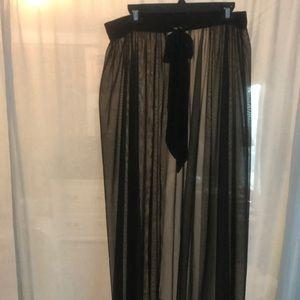 Dresses & Skirts - Mesh wrap maxi skirt